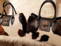 Tas Liz (  Mahonie  & Zwart )  Real Leather