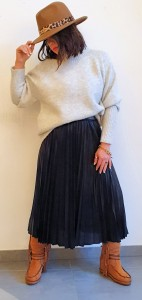Rok Plisse Pippa  ( Leather Look )